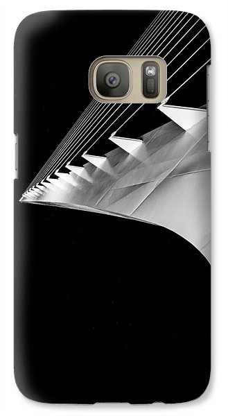 Reading A Sundial At Midnight Galaxy S7 Case by Alex Lapidus