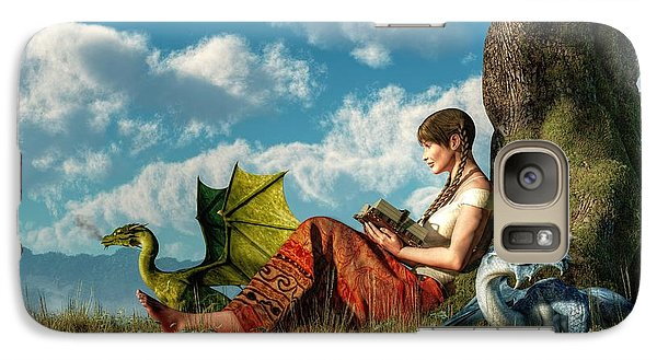 Dungeon Galaxy S7 Case - Reading About Dragons by Daniel Eskridge