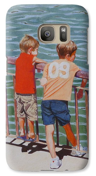 Galaxy Case featuring the mixed media Ready For A Dip by Constance Drescher