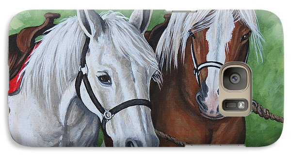 Galaxy Case featuring the painting Ready To Ride by Penny Birch-Williams