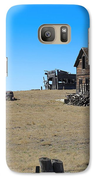 Galaxy Case featuring the photograph Real Estate On The Open Plain by Kathleen Scanlan
