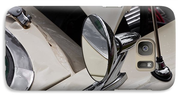Galaxy Case featuring the photograph Rear View Wing Mirror Chrome by Mick Flynn