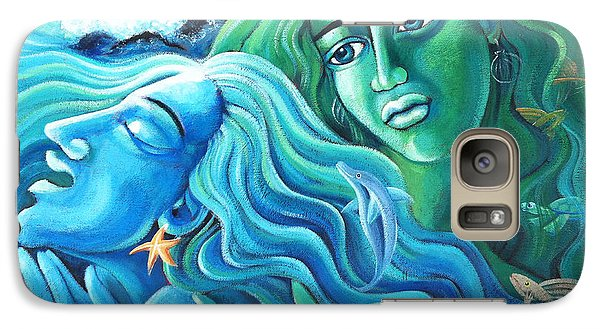 Galaxy Case featuring the painting Reclaiming The Seas by Angela Treat Lyon