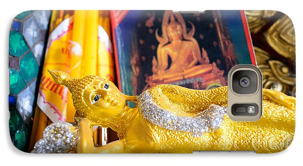 Galaxy Case featuring the photograph Reclining Buddha by Dean Harte