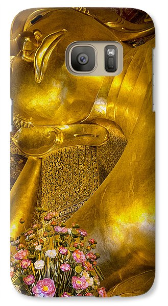 Galaxy Case featuring the photograph Reclining Buddha by Kim Andelkovic