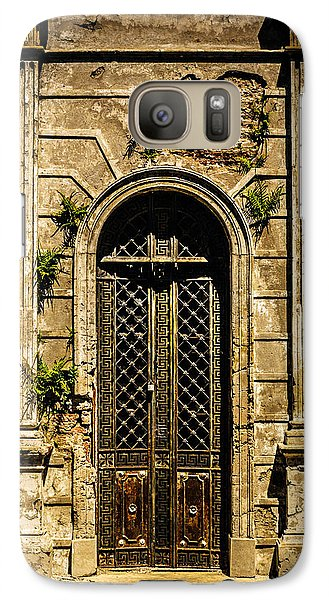 Galaxy Case featuring the photograph Recoleta Crypt Door by Rob Tullis