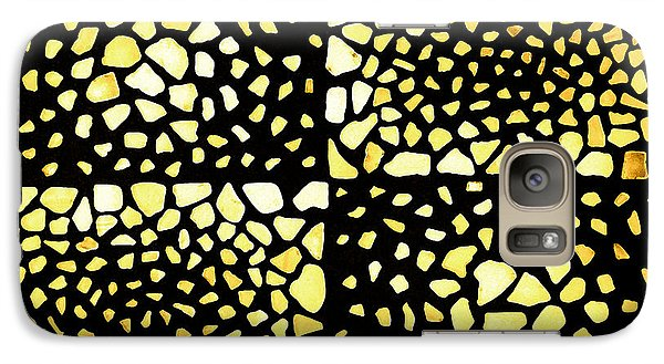 Galaxy Case featuring the mixed media Rectangles by Kjirsten Collier