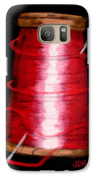 Galaxy Case featuring the drawing Red 8 by Joseph Hawkins