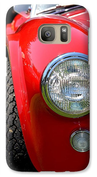 Galaxy Case featuring the photograph Red Ac Cobra by Dean Ferreira