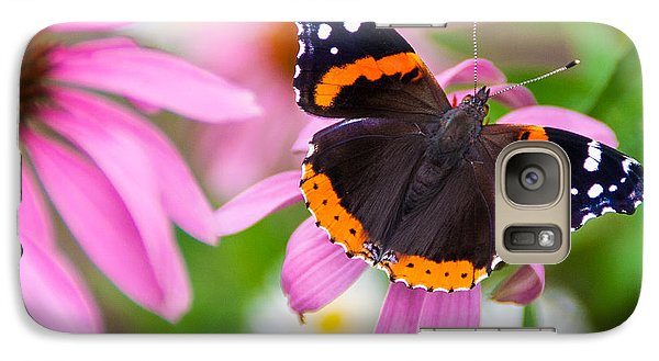Galaxy Case featuring the photograph Red Admiral Butterfly by Patti Deters