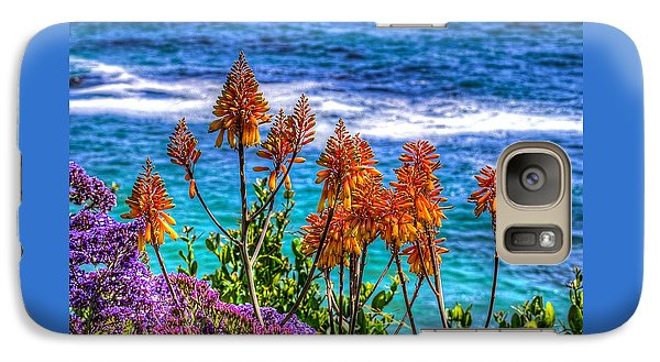 Galaxy Case featuring the photograph Red Aloe By The Pacific by Jim Carrell