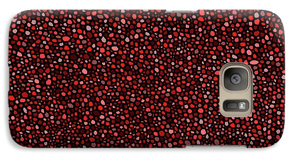 Galaxy Case featuring the digital art Red And Black Circles by Janice Dunbar