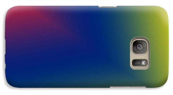 Galaxy Case featuring the digital art Red And Blue Star Beam On Yellow by Karen Nicholson