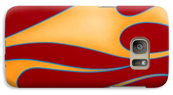 Galaxy Case featuring the photograph Red And Gold by Joe Kozlowski