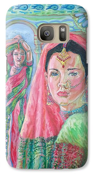 Galaxy Case featuring the painting Red And Green by Suzanne Silvir