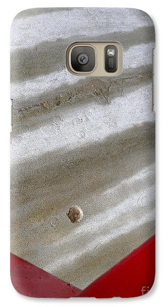 Galaxy Case featuring the photograph Red And Grey Abstract by Robert Riordan