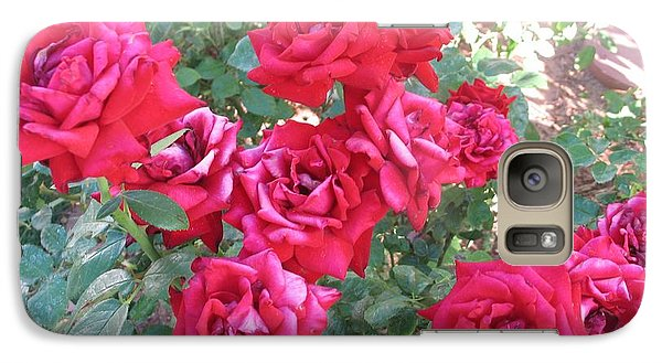 Galaxy Case featuring the photograph Red And Pink Roses by Chrisann Ellis