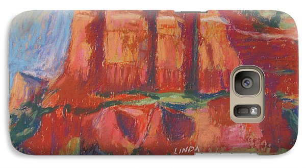 Galaxy Case featuring the painting Red And Purple by Linda Novick