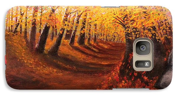 Galaxy Case featuring the painting Red And Wolf by Janet Greer Sammons