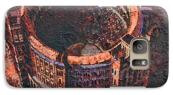 Galaxy Case featuring the painting Red Arena by Mark Howard Jones