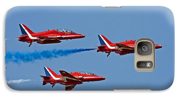 Galaxy Case featuring the photograph Red Arrows by Paul Scoullar