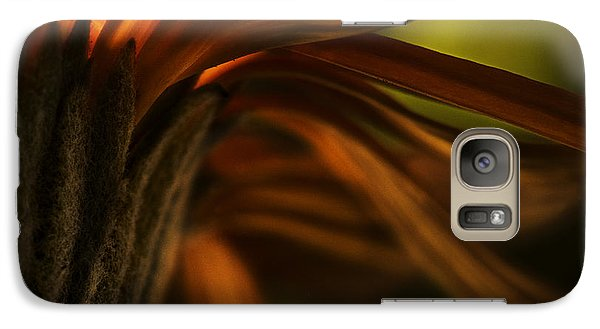 Galaxy Case featuring the photograph Red Autumn Blossom Detail by Peter v Quenter