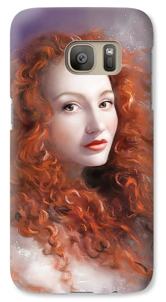 Galaxy Case featuring the painting Red Autumn by S G