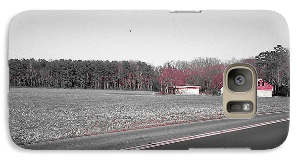 Galaxy Case featuring the photograph Red Barn  by Amazing Photographs AKA Christian Wilson