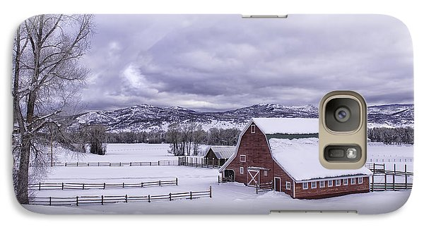 Galaxy Case featuring the photograph Red Barn At Lamb Ranch by Kristal Kraft