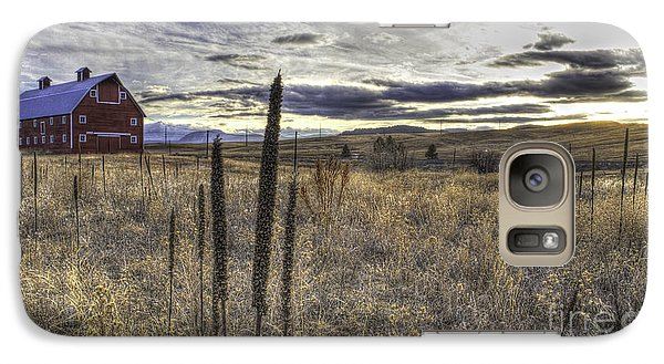 Galaxy Case featuring the photograph Red Barn At Sunset by Kristal Kraft