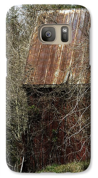 Galaxy Case featuring the photograph Red Barn - Dares Beach Road by Rebecca Sherman