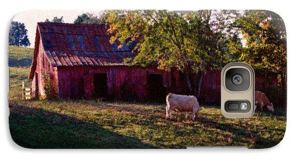Galaxy Case featuring the digital art Red Barn Five by Ken Frischkorn