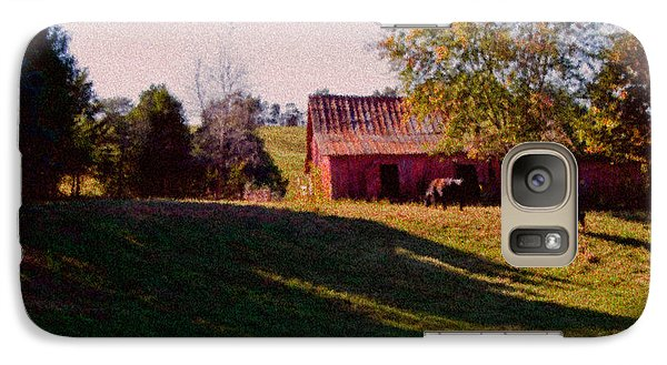 Galaxy Case featuring the digital art Red Barn Four by Ken Frischkorn