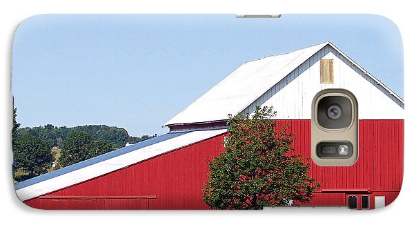Galaxy Case featuring the photograph Red Barn by Gena Weiser