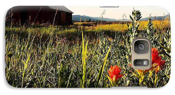 Galaxy Case featuring the photograph Red Barn by Meghan at FireBonnet Art