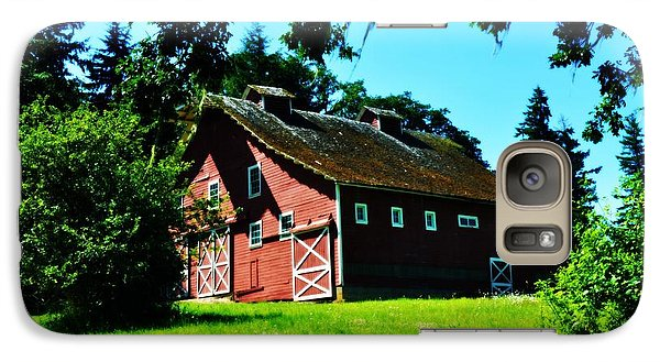 Galaxy Case featuring the photograph Red Barn  by Mindy Bench