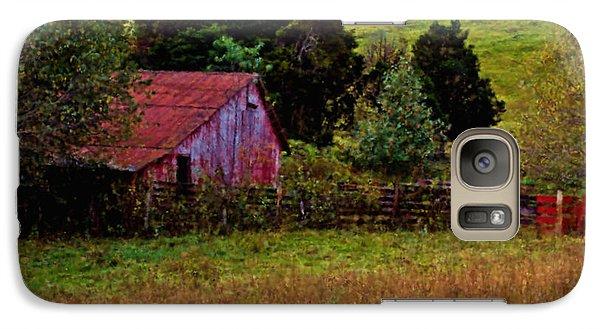 Galaxy Case featuring the digital art Red Barn One by Ken Frischkorn