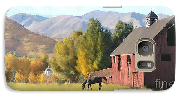 Galaxy Case featuring the painting Red Barn by Rob Corsetti