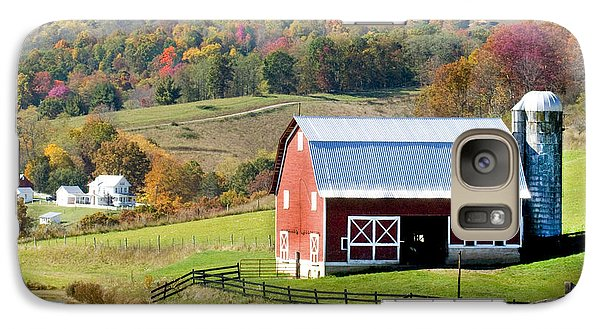 Galaxy Case featuring the photograph Red Barn by Robert Camp