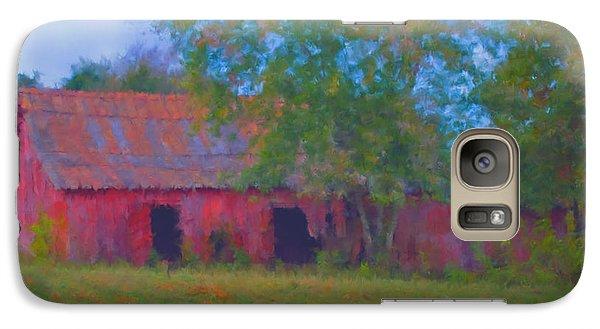 Galaxy Case featuring the digital art Red Barn Seven by Ken Frischkorn