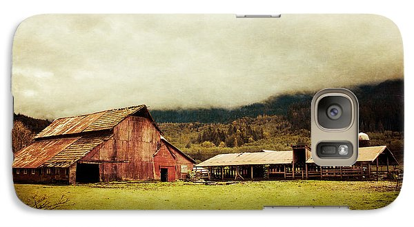 Galaxy Case featuring the photograph Red Barn by Takeshi Okada