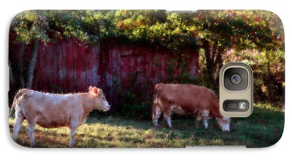 Galaxy Case featuring the digital art Red Barn Ten by Ken Frischkorn