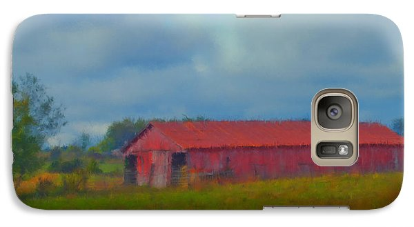 Galaxy Case featuring the digital art Red Barn Three by Ken Frischkorn
