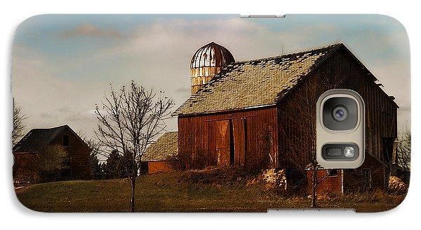 Galaxy Case featuring the digital art Red Barn - Waupaca County Wisconsin by David Blank