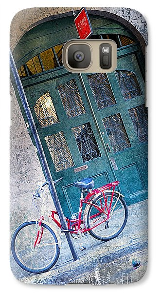 Galaxy Case featuring the digital art Red Bike by Erika Weber
