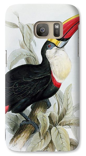 Red-billed Toucan Galaxy S7 Case by Edward Lear