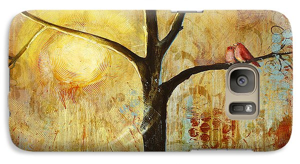 Red Birds Tree Version 2 Galaxy Case by Blenda Studio