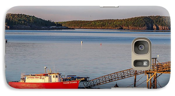 Galaxy Case featuring the photograph Red Boat Bar Harbor Me by Trace Kittrell