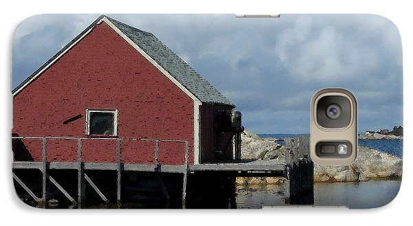 Galaxy Case featuring the photograph Red Boat House by Patricia Januszkiewicz
