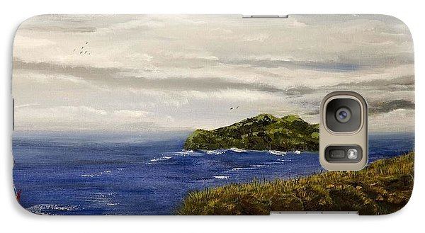 Galaxy Case featuring the painting Red Boat In The Celtic Sea by Susan Culver